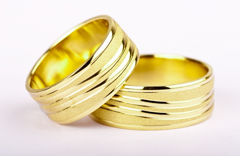 Verighete aur cu striatii