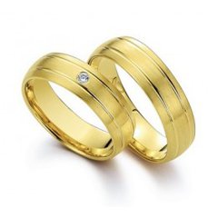 Verighete din aur cu diamant