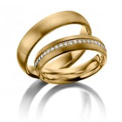 Verighete aur cu lant de diamante