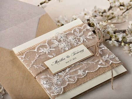 invitatie hand-made
