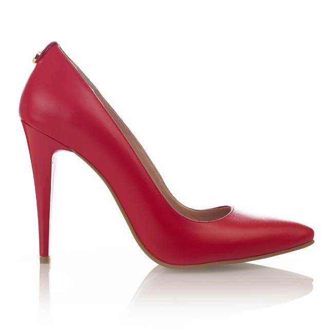Pantofi din piele rosie